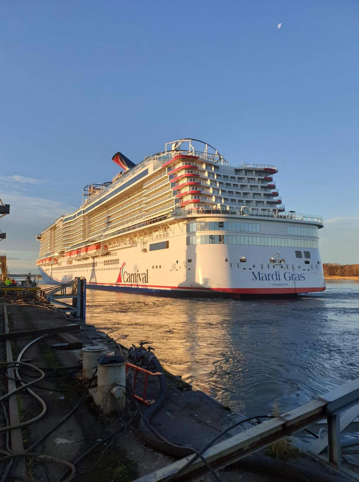 New Carnival cruise ship delivered