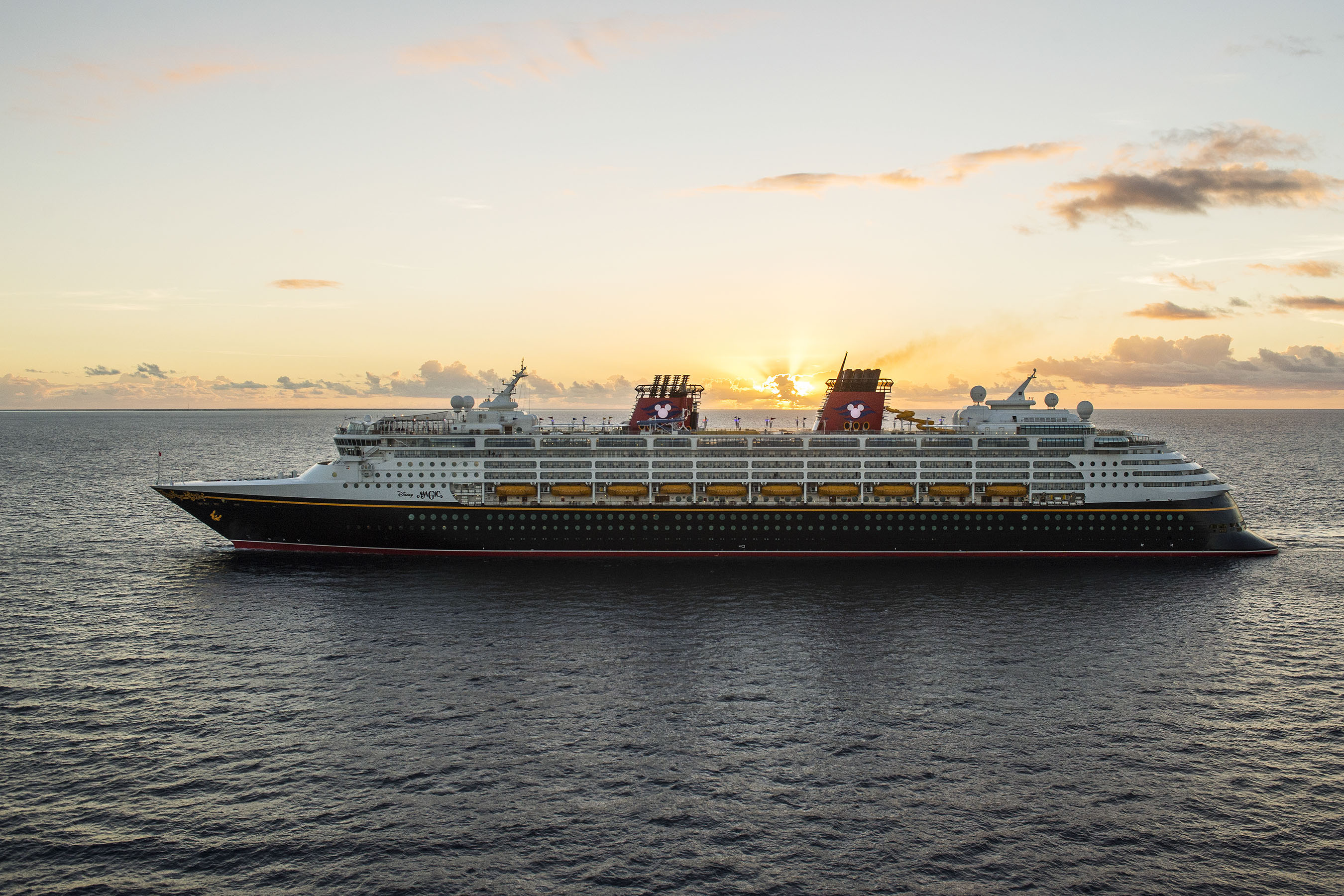 Disney Magic at sunset