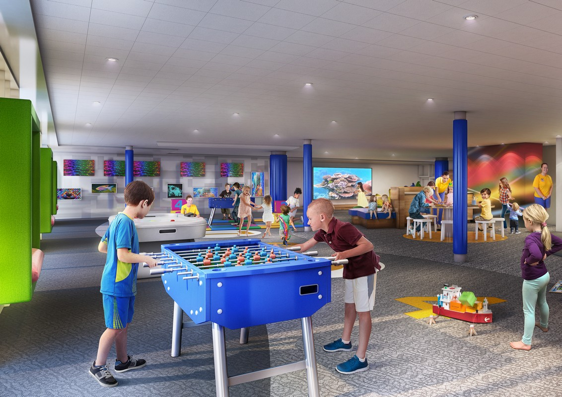 younger guests and their families will be introduced to an open, imaginative layout with whimsical and immersive activities