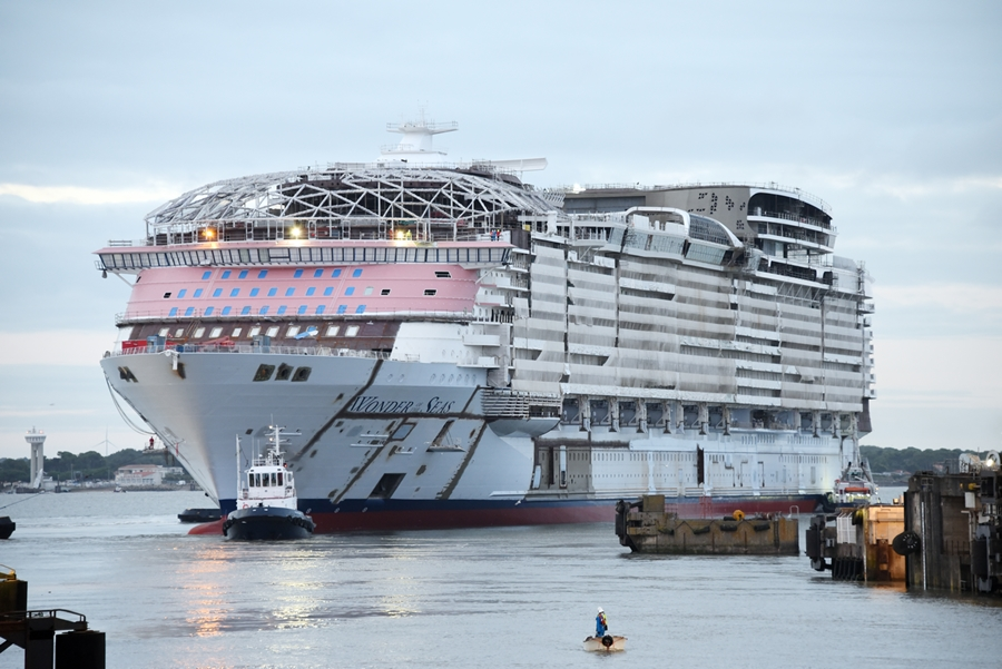Royal Caribbean Floats Out New Wonder Of The Seas Cruise Ship Cruise Blog