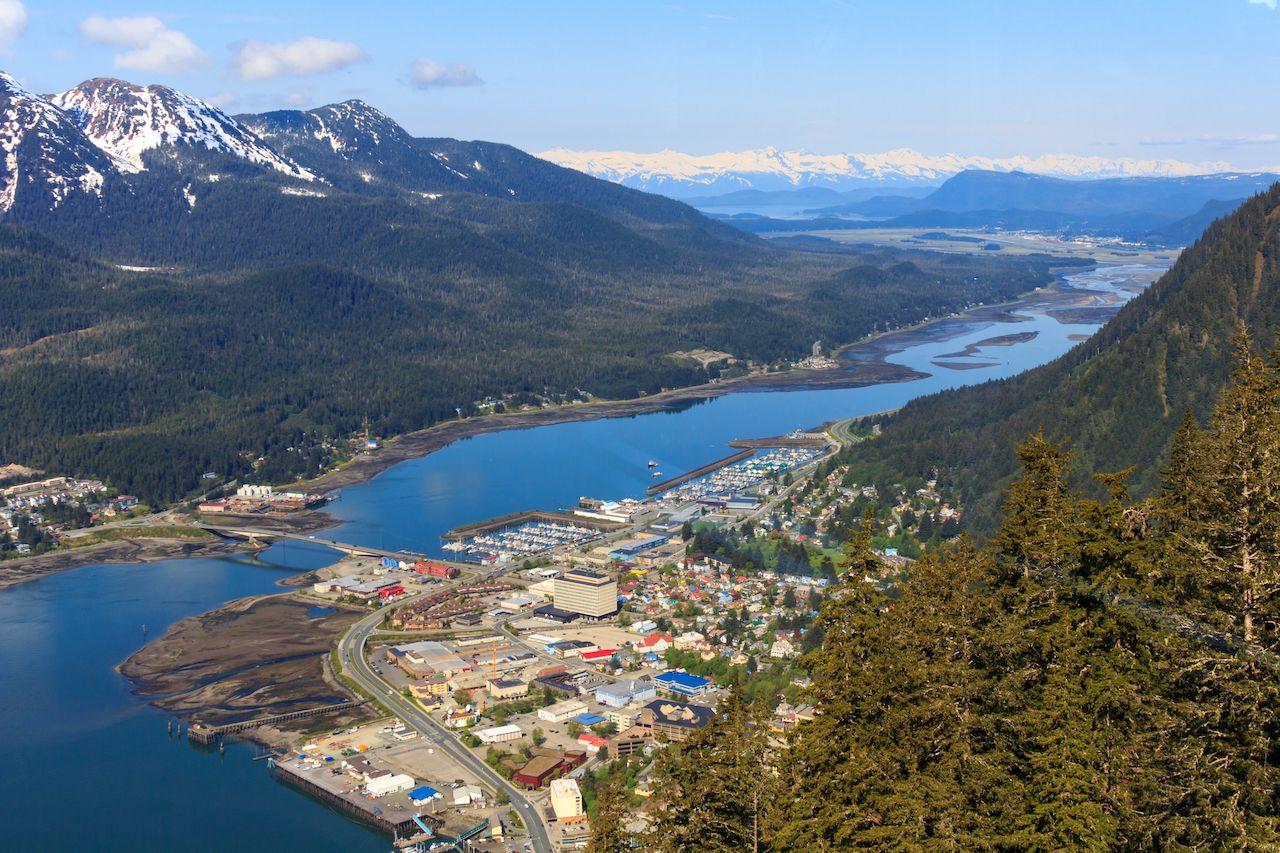 Aerial view of Juneau