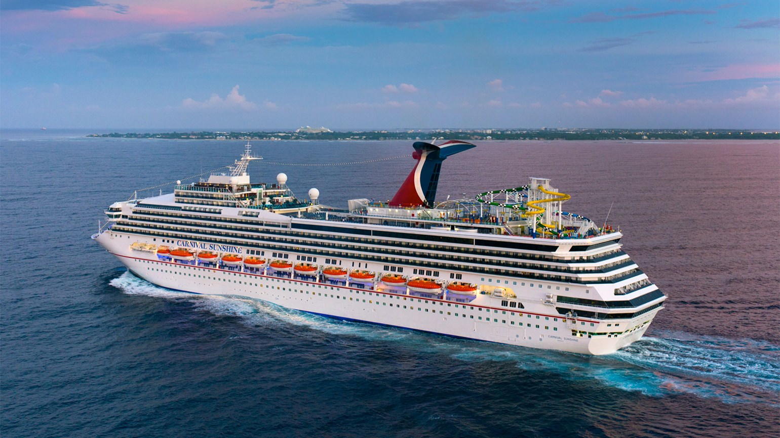 Carnival Sunshine at sea aerial