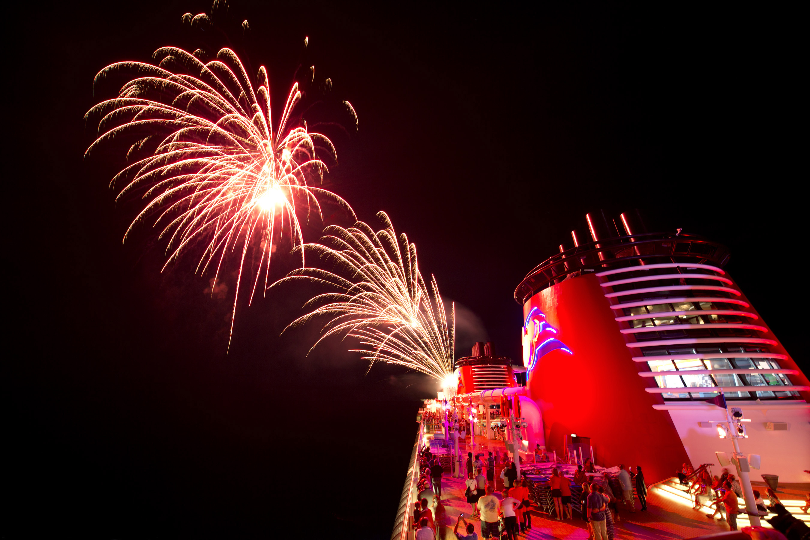 Fireworks at Sea on DCL