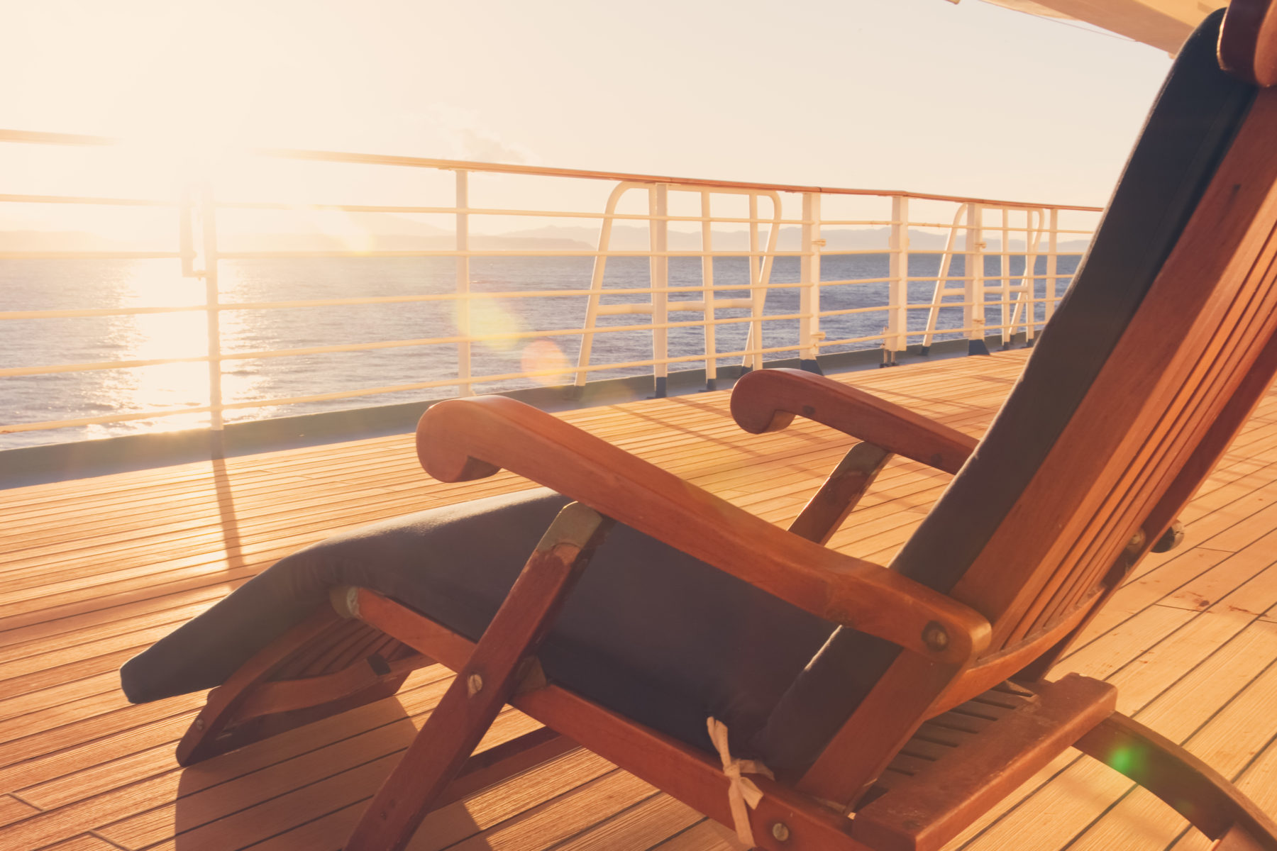 Deck of a cruise ship. Credit: iStock