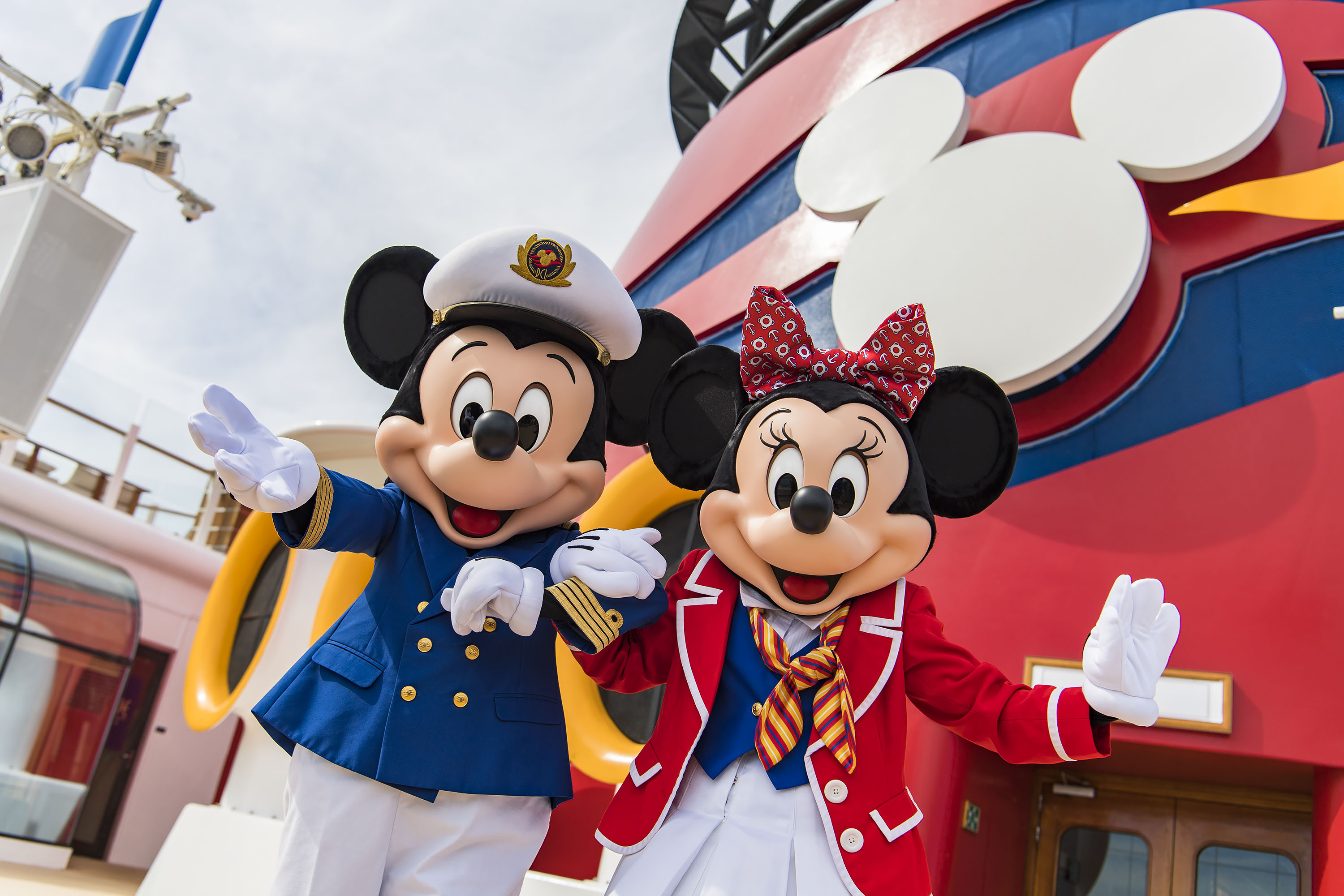 Captain Mickey and Minnie Mouse