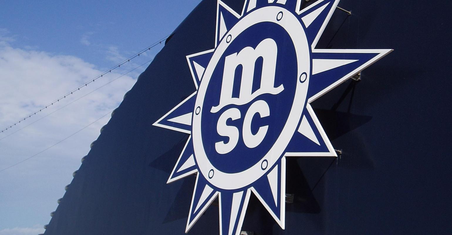 MSC Logo on the funnel of a ship
