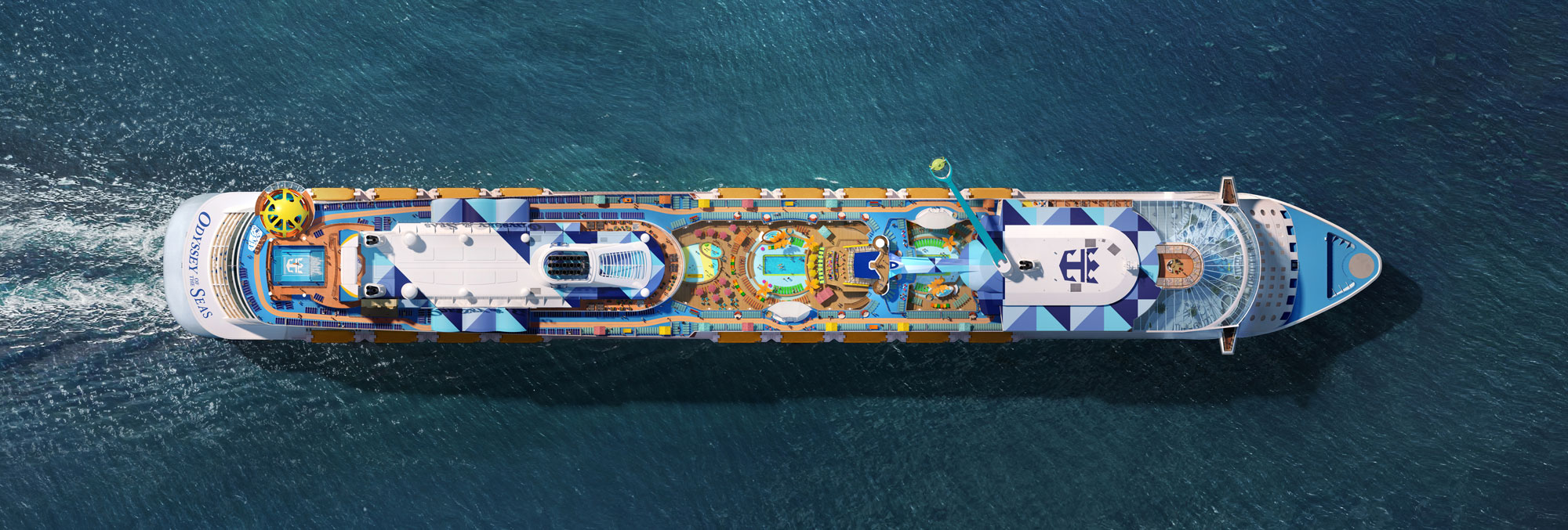 Overhead view of Odyssey of the Seas