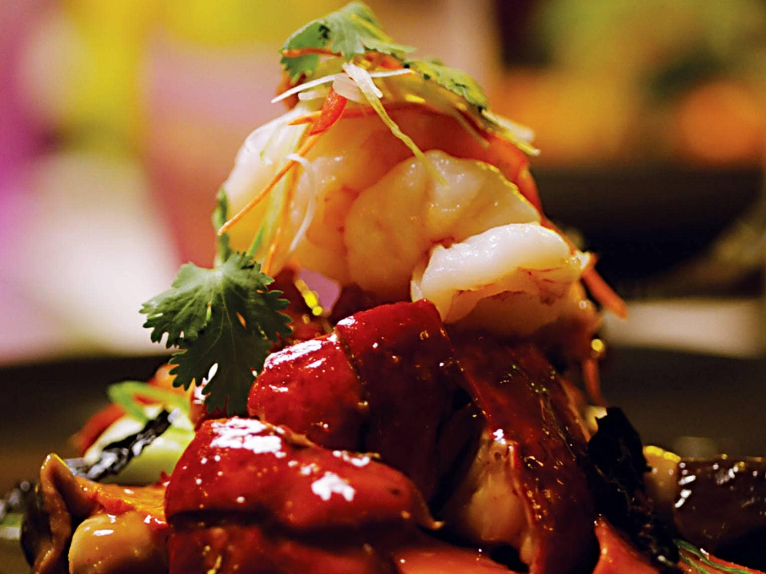 A dish at Asian restaurant Tamarind on a Holland America Cruise Ship (source: Holland America Line)