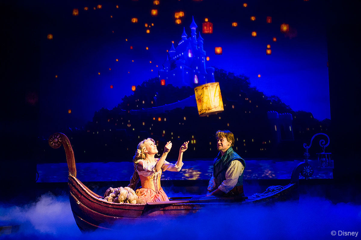 Tangled show on the Disney Magic