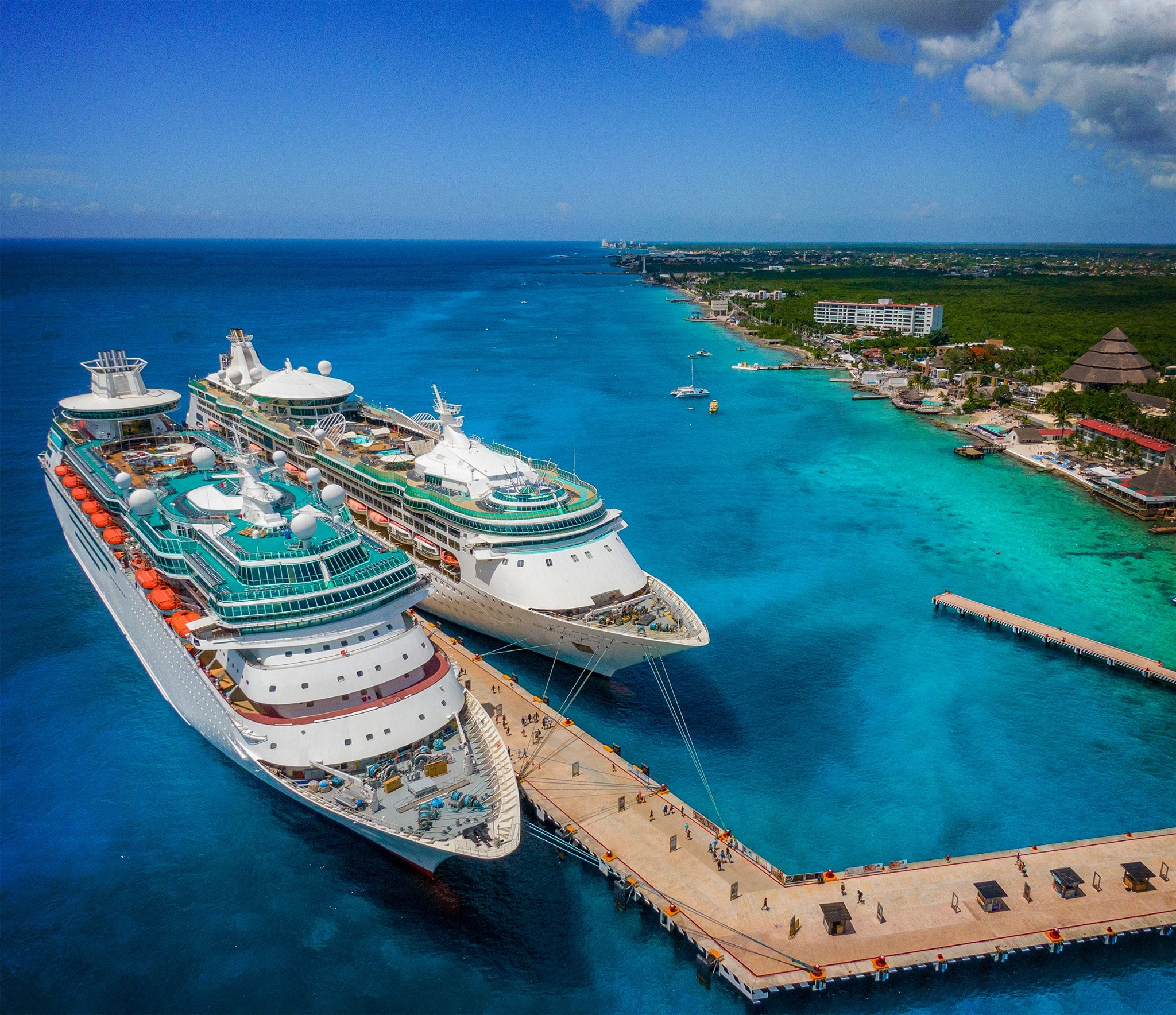Two ships in Cozumel