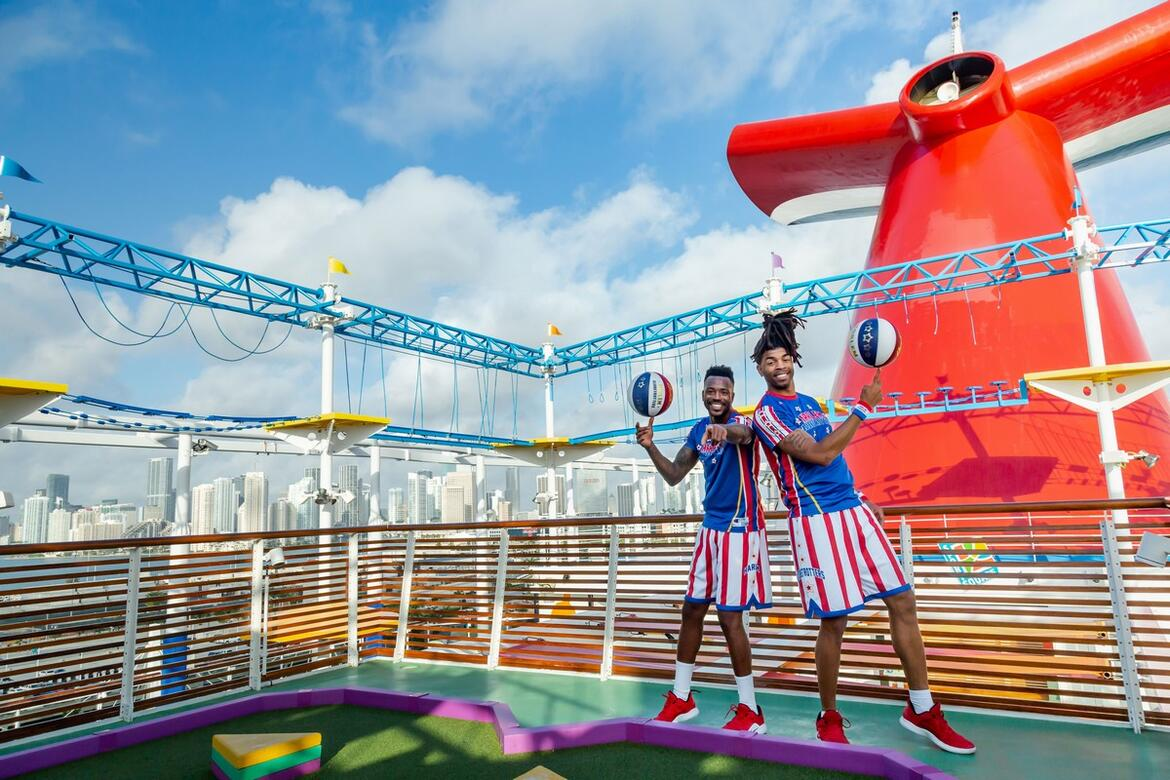 They Dribble; They Dance; They Shoot; They Score! Carnival Cruise Line Teams Up with World-Renowned Harlem Globetrotters