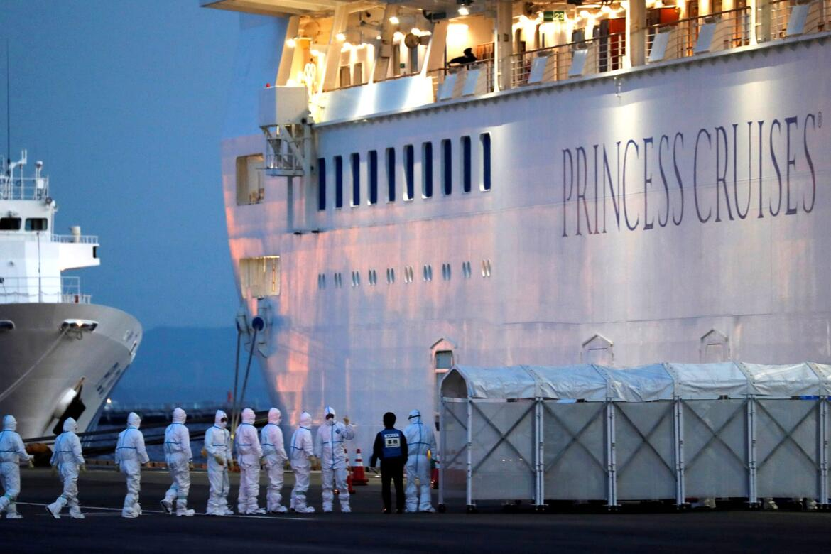 As coronavirus spreads on ship, Princess Cruises offers crew two months of vacation