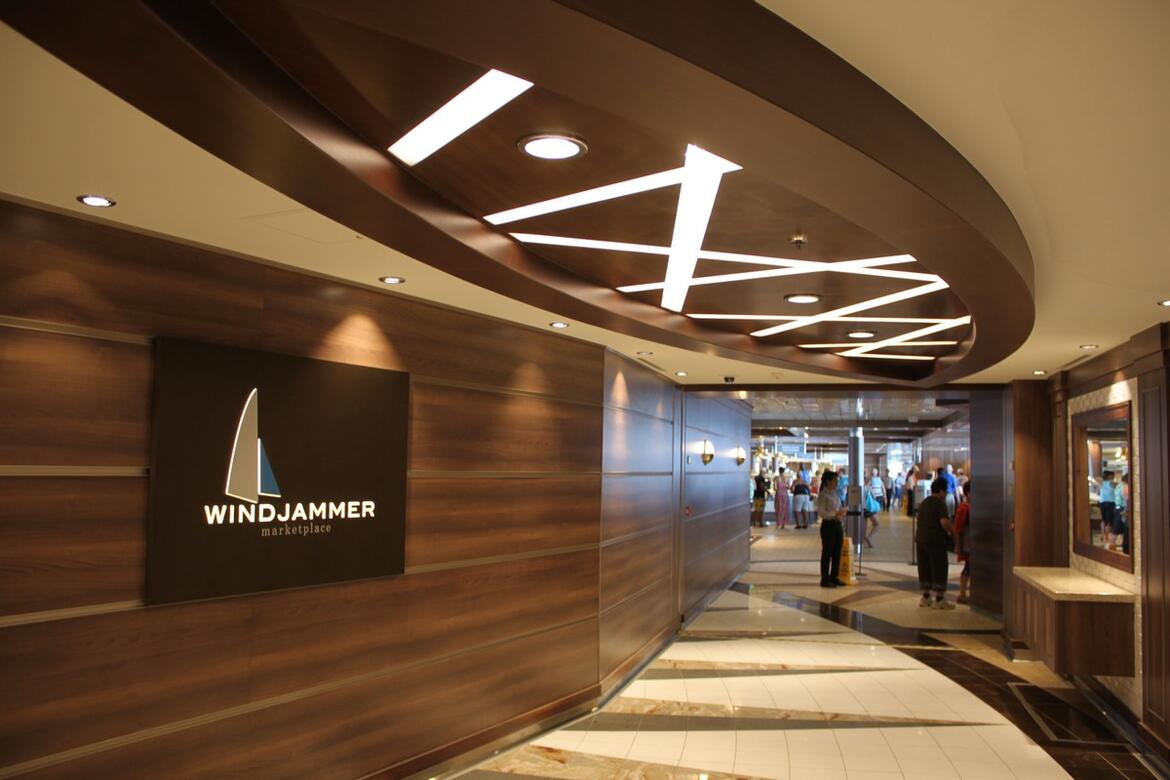 Windjammer buffet on Quantum of the Seas