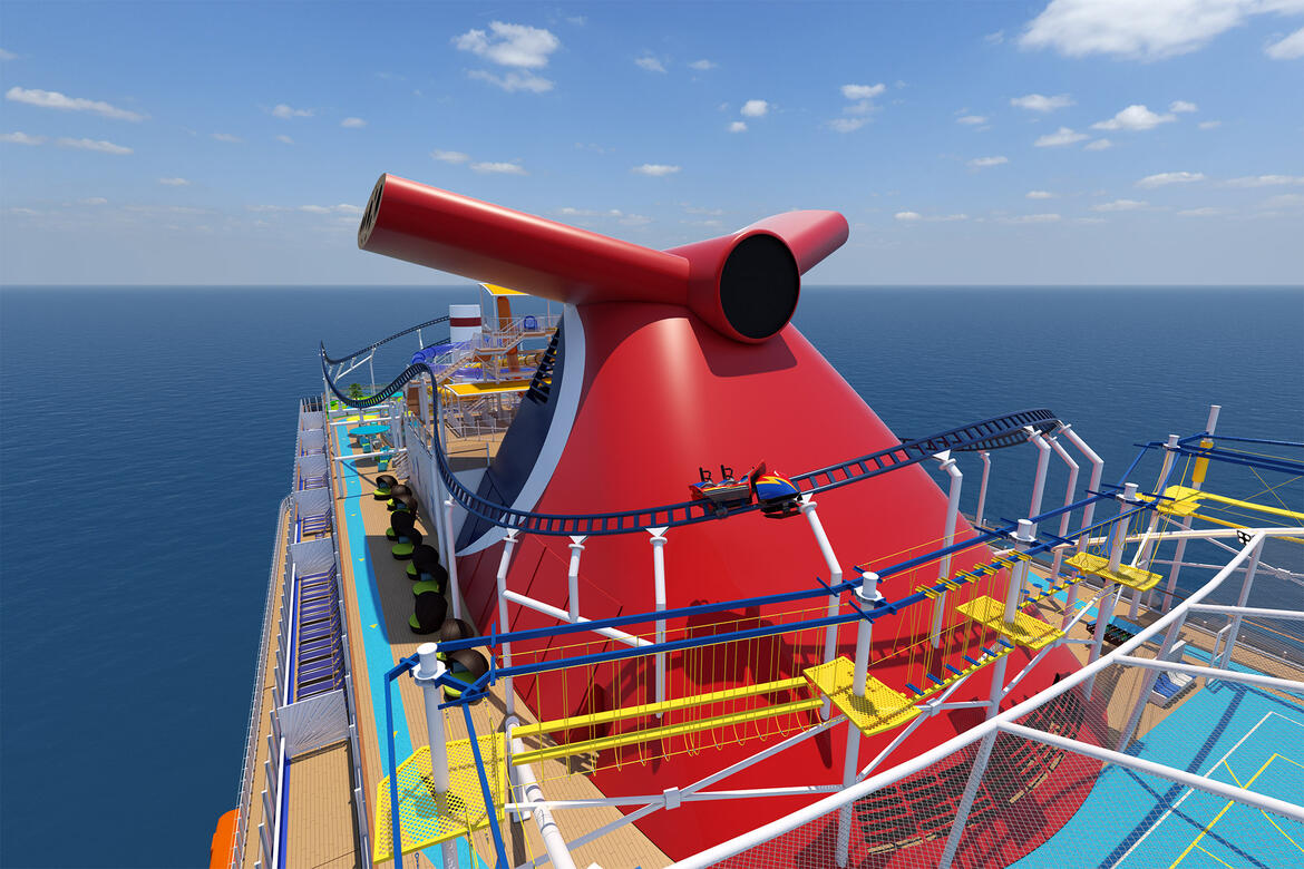 Carnival Cruise Line Tests New Cruise Ship Roller Coaster Cruise Blog