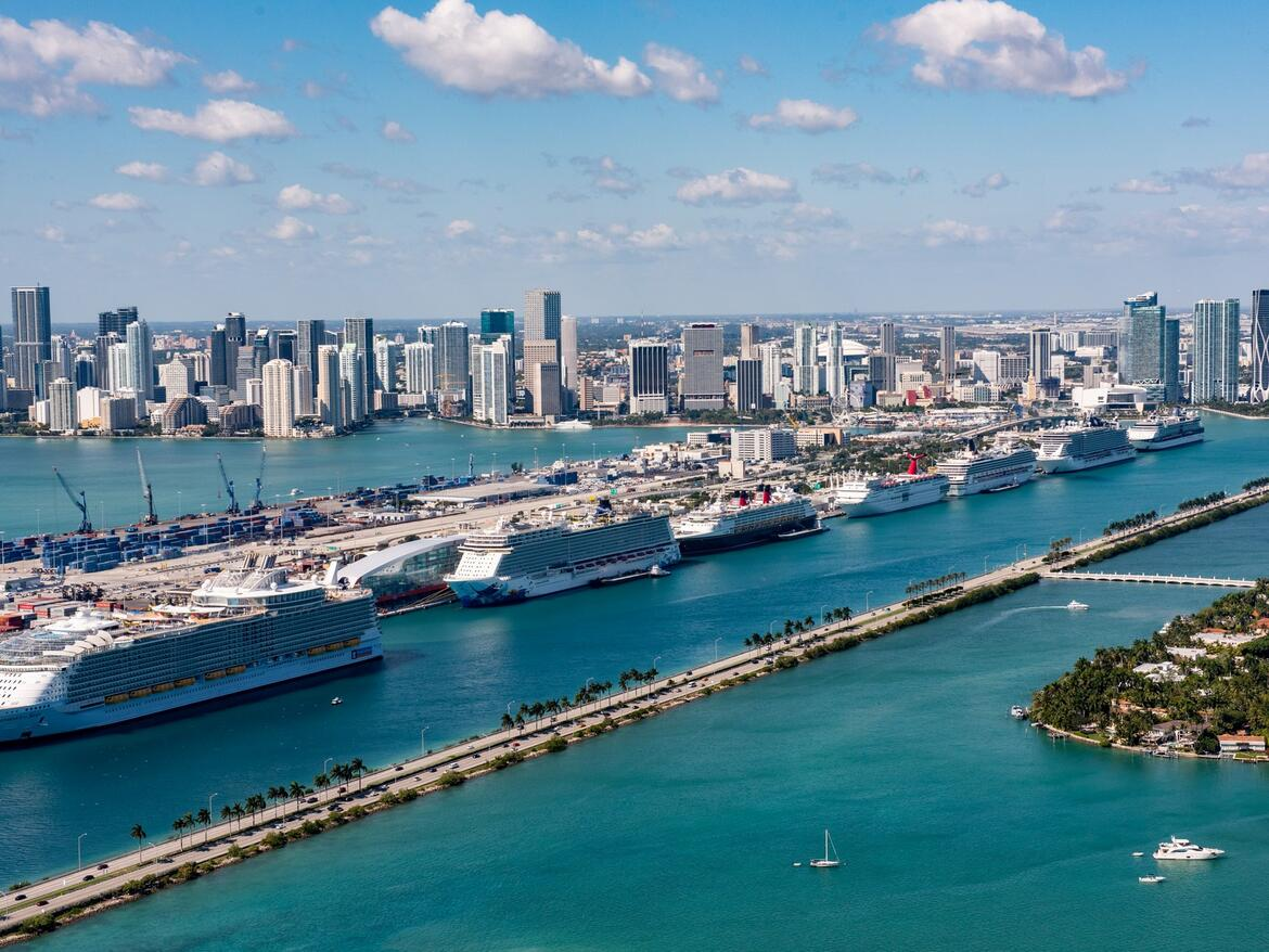 Cruise ships in PortMiami