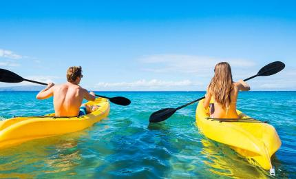 Kayak excursion in Bahamas