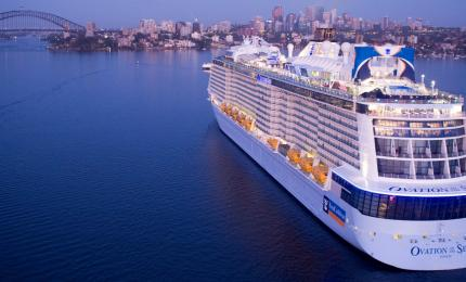 Ovation of the Seas aerial in Sydney