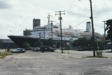 Noordam of the Holland-America Line at a port call in Tampa, Florida