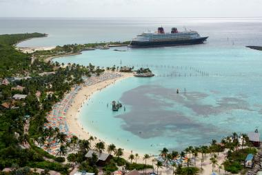 Aerial view of Castaway Cay