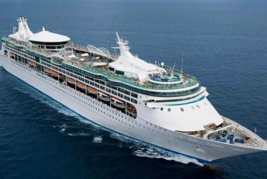 Royal Caribbean Enchantment of the Seas aerial