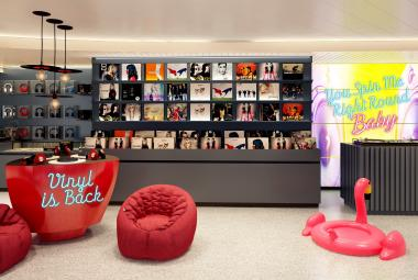 Virgin Voyages' first ship, Scarlet Lady will feature an onboard record shop, karaoke studio, and artfully selected music