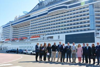 The port of Valencia hosts in Spain of one of the largest cruises in the world, the MSC Bellissima