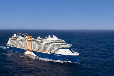 Celebrity Edge from the air. Celebrity announced it has ordered a fifth ship in this class.