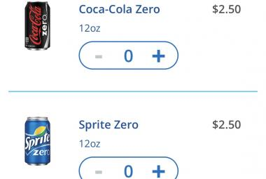 Beverages — beers, sodas, water — are the latest addition to 'Pizza Anywhere' feature on Hub app