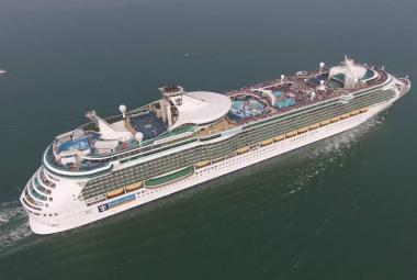 Independence of the Seas aerial