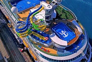 Following a major $97 million amplification, Voyager of the Seas set sail from its homeport in Singapore with new features and experiences, including The Perfect Storm multistory waterslides.