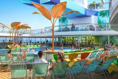 dyssey of the Seas will be the first Quantum Ultra Class ship to feature two open-air, resort-style pools.