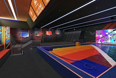 The first-ever Sky Zone trampoline park at sea aboard Carnival Panorama