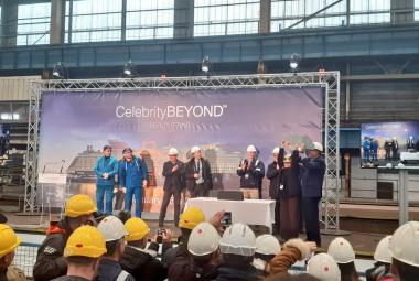 Celebrity Cruises Cuts Steel on Third Edge-Class Ship, Celebrity Beyond