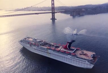 Carnival Inspiration arrives in San Francisco during its inaugural season in 1996.