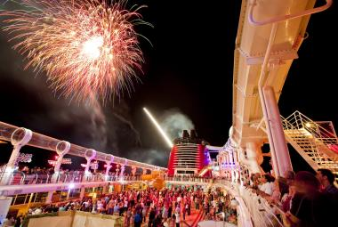Fireworks at sea - only available on Disney Cruise Line