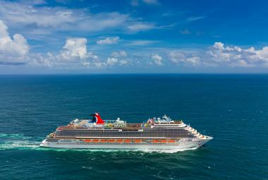 Carnival ship at sea