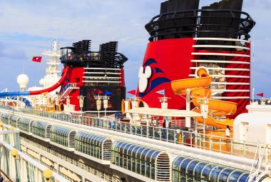 Disney cruise ship from behind