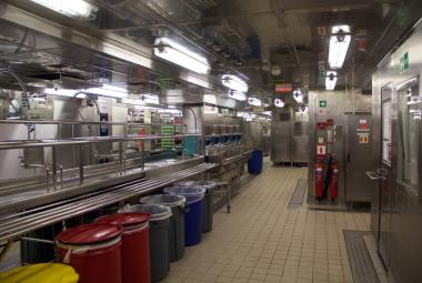 Galley on Empress of the Seas