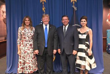 President Trump and Florida Governor Ron DeSantis