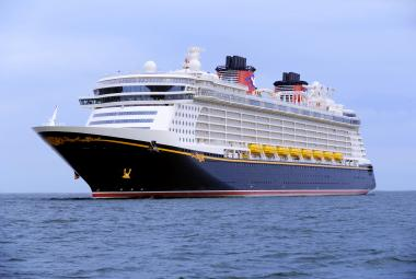 Disney cruise ship at sea