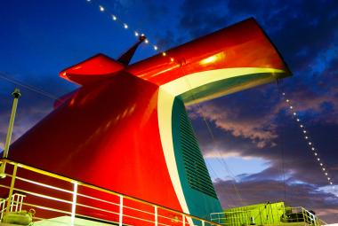 Carnival funnel at night