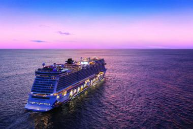 NCL Encore aerial sunset