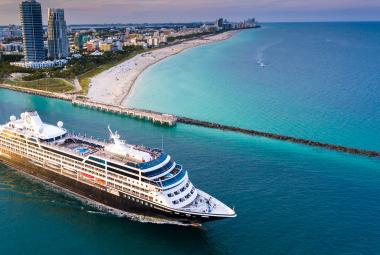Azamara ship sailing away from Florida